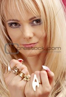 aggressive golden jewelry girl #2