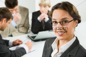 Smart business woman