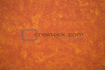Bright Vibrant Orange Yellow Adobe Wall Mexico