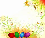 Easter artistic spring vector illustration