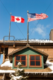 Canada and USA flags