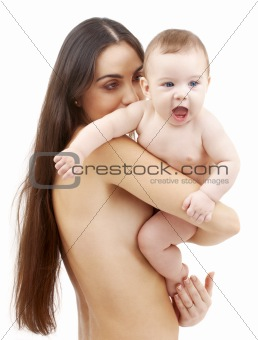 clean baby in mother hands #2