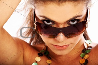 woman portrait - sunglasses