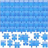 Glass Puzzle Aqua