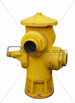 Antique Yellow Fire Hydrant