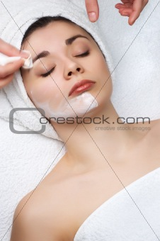 beauty salon series, removing facial mask