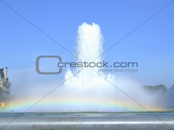 Fountain and Rainbow