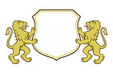 Lion coat of arms logo