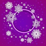 Vector illustration with snowflakes - winter card template