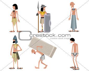 Six egyptians set