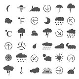 Weather icons, vector illustration.