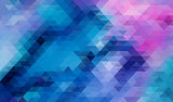 Blue Abstract triangle background