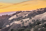 Vibrant Sunset of California Rolling Hills
