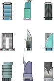 set of Buildings cartoon for you design
