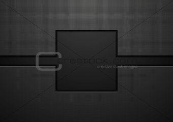 Black tech abstract vector background