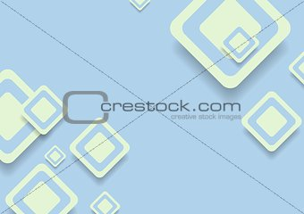 Abstract blue green squares vector design