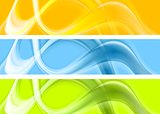 Abstract colorful wavy banners design