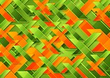 Bright green orange tech corporate background