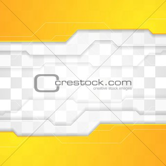 Bright orange tech corporate geometric background
