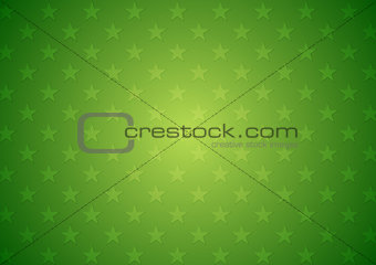 Abstract green stars vector background