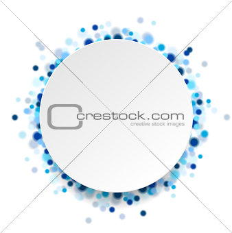 Abstract blue shiny circles vector background