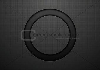 Abstract black circle background