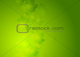 Abstract summer vector background with green leaves