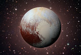 Solar System - Pluto. Dwarf planet in the Kuiper belt.