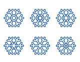 set of snowflake icons
