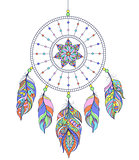 dreamcatcher on white background
