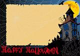 Halloween Card With Web