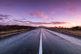 Road at dawn
