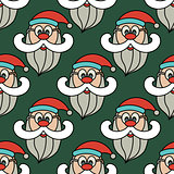 Christmas vector seamless pattern with Santa Claus