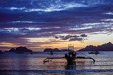 Sunset on the beach. Philippines