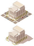 Vector isometric low poly Opera house