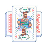 Hipster on playing card