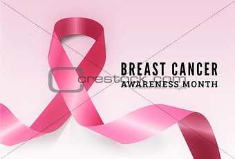 Breast cancer awareness vector symbol
