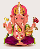Ganesha Indian god of wisdom and wealth
