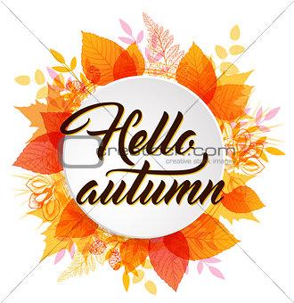 Abstract round autumn banner