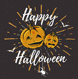 Vintage black Halloween background