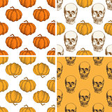 Decorative vintage Halloween patterns