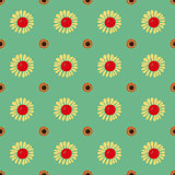 Seamless Vintage flower pattern.