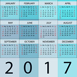 Calendar Planner 2017 Year.