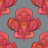 Vector seamless background. Beautiful floral pattern with fantasy flowers.