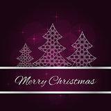 Violet christmas card
