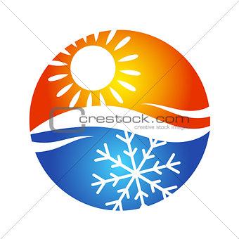 Air conditioning logo symbol