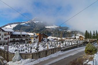 Cemetery in Kirchberg in Tyrol, Austria