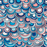 Fish scale made of circles seamless pattern, abstract background in soft trendy colors.Marine sea decoration