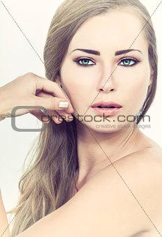 Beautiful Woman Girl Green Eyes