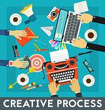 Creative Process Concept Banner